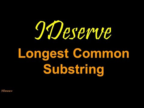 Programming Interview Question: Longest Common Substring