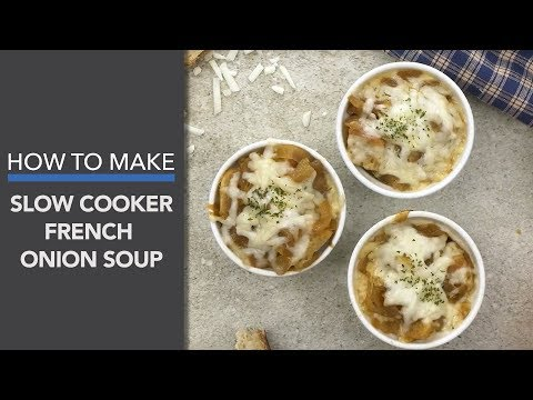 French Onion Soup Recipe (A Slow Cooker Recipe)