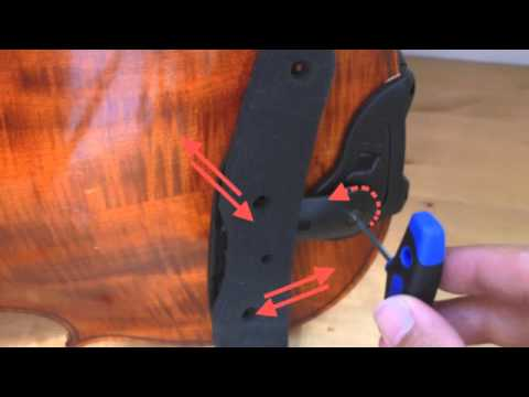 Wittner: shoulder rest Isny with traditional chin rest: assembly instructions