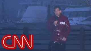 Hurricane Florence splits CNN anchor