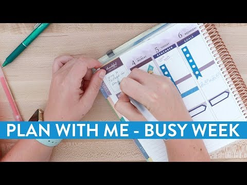 PLAN WITH ME: Organizing a Busy Week to Help Minimize Stress as a Business Owner