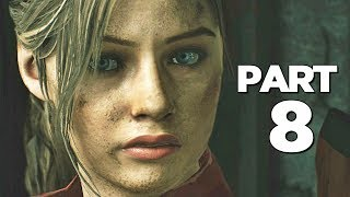 RESIDENT EVIL 2 REMAKE Walkthrough Gameplay Part 8 - TYRANT (RE2 CLAIRE)