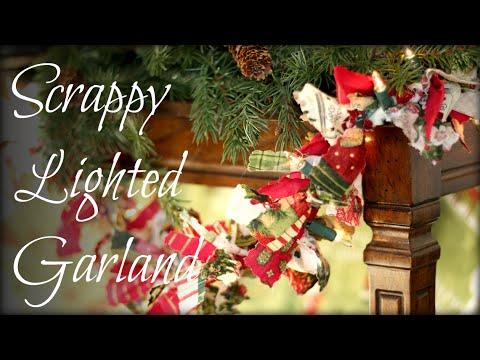 DIY Christmas Scrappy Lighted Garland Tutorial
