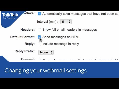 Changing your webmail settings