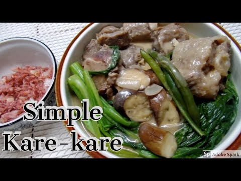 Easy to cook Kare Kare.