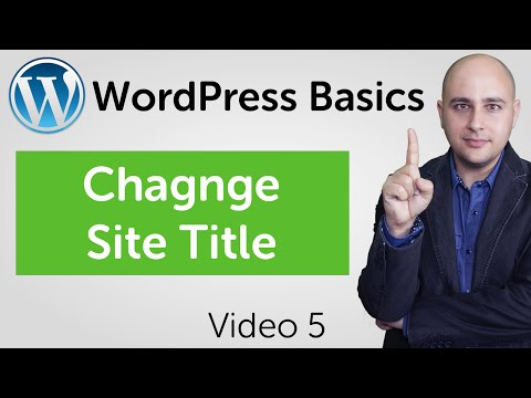 How To Change The WordPress Site Title And Other General Settings