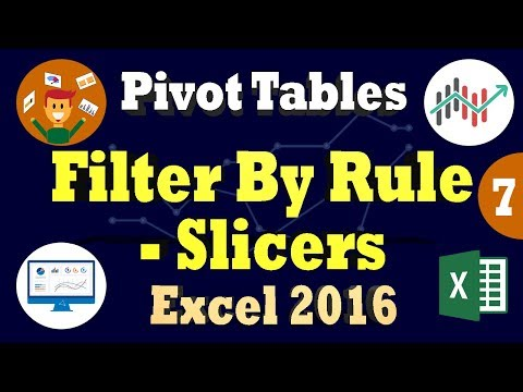 Filter Pivottable by Rule | Using Slicers In Excel | Search Filter Box in Pivot Tables Excel 2016
