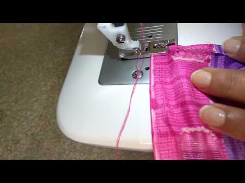 Saree Pico stitching quick and easy  on Saree  hindi how to !