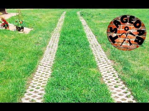 Zatravňovací dlažba / Drivable grass pavers