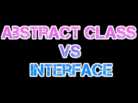 Abstract class vs interface   difference between abstract class and interface