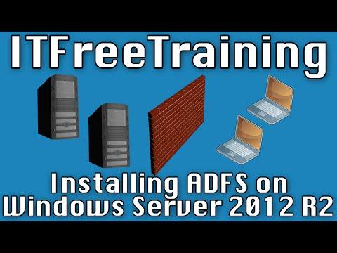 Installing ADFS on Windows Server 2012 R2