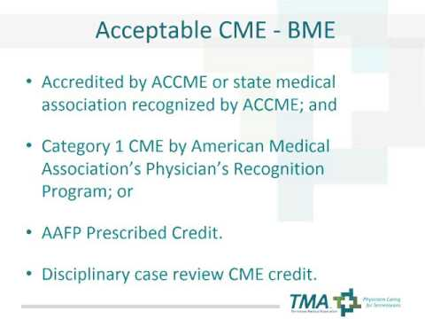 CME Requirements for TN Physicians
