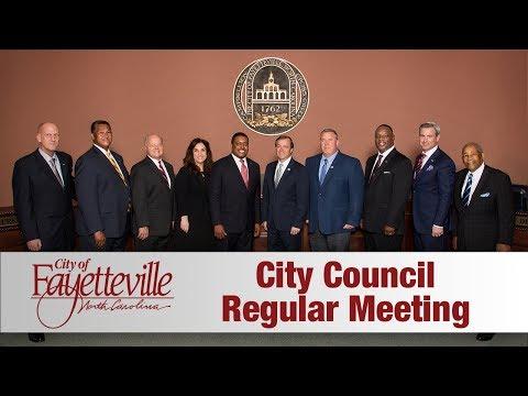 Fayetteville City Council Meeting - June 26 2017