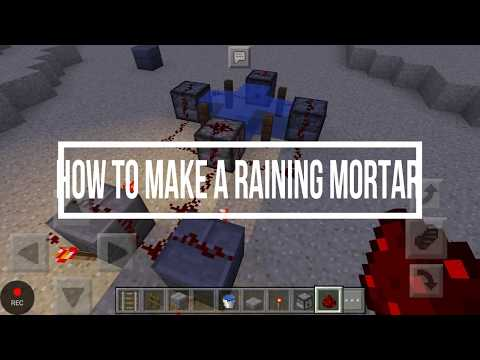 How to make RAINING MORTAR in Minecraft in ANDROID