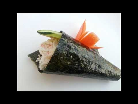 How to make a hand roll(Temaki)