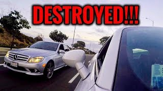 Mercedes AMG C300 V6 vs Dodge Challenger RT V8 | STREET RACE!