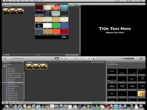 How to use Photobooth and imovie to send video message