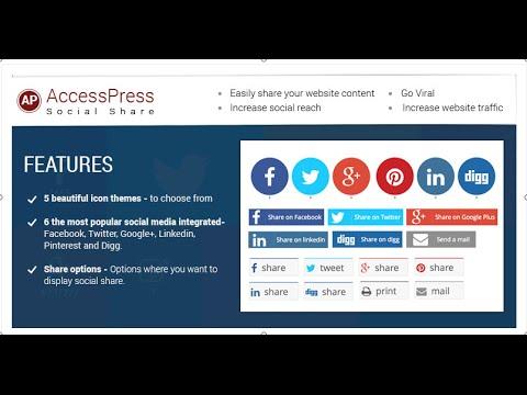 AccessPress Social Share Plugin Configuration