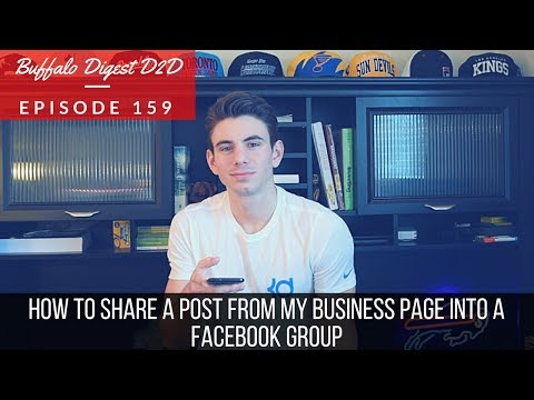 How To Share A Post From My Business Facebook Page Into A Facebook Group - Social Media Marketing
