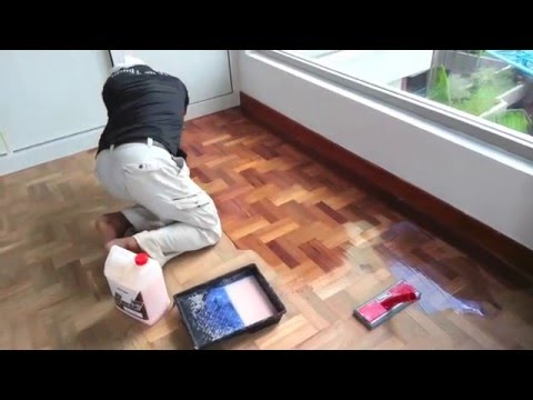 How to refinish old hardwood parquet floor step by step using Drum belt Sander