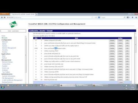 Digi TransPort Tech: Configuring a Firewall