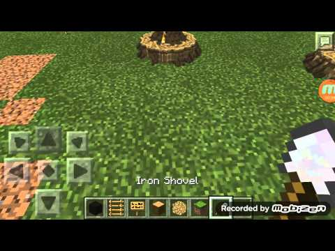 ✔how to make a road block easy and simple mcpe