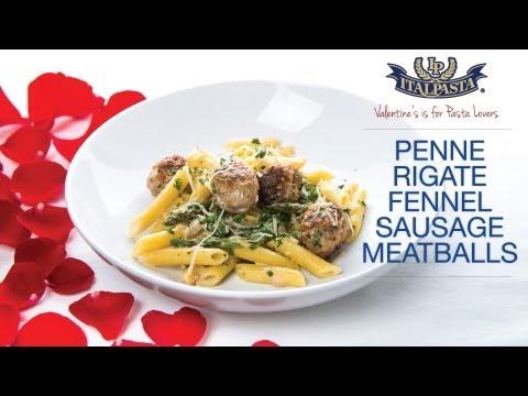 Penne with Fennel Sausage Meatballs - Italpasta Recipe