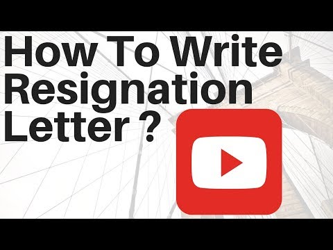 How to write a resignation letter job interview resignation