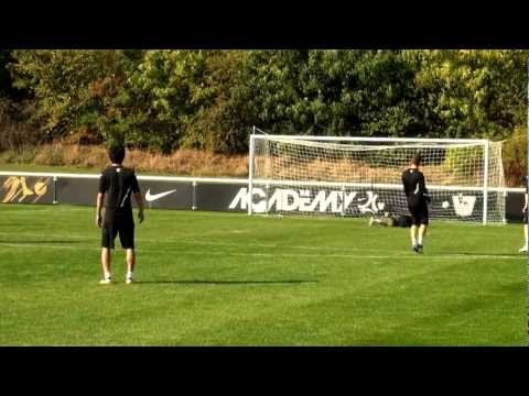 Soccer shooting exercise | Power shooting drill | Nike Academy