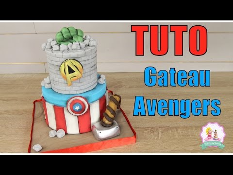 ★• GATEAU CAKE DESIGN AVENGERS - TUTORIEL DECORATION PATE A SUCRE - HOW TO MAKE AVENGERS CAKE •★