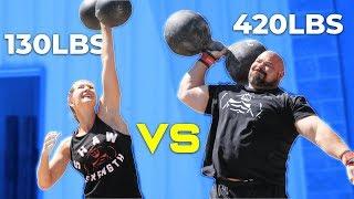 420LB MAN VS WIFE | WHO