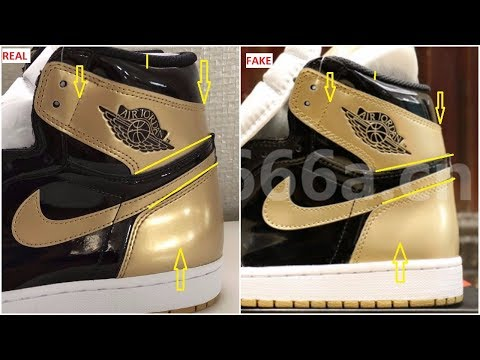 Fake Air Jordan 1 Gold Top 3 Complexcon Spotted- Quick ways To identify Them