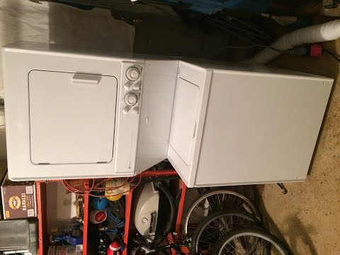 Maytag washer rusted tub leak repair combo stacked laundry center