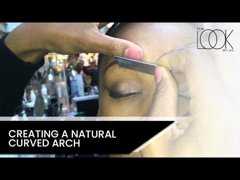 Creating a natural curve eyebrow arch