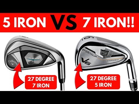 Strong Lofted 7 Iron VS Traditional Lofted 5 Iron - Both 27 Degrees!