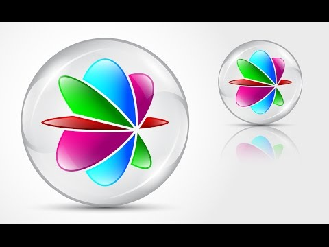 How to create 3D Logo Design (GLASS MARBLE) in Adobe Illustrator CS6 HD1080p