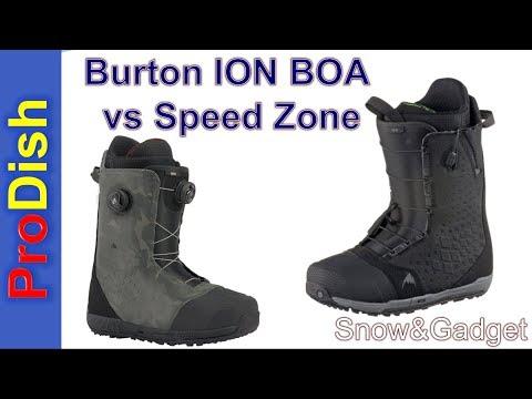 Burton Ion BOA vs Speed Zone
