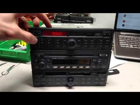 How to Enter Radio Code for Audi TT mk1 (00-06 Concert)