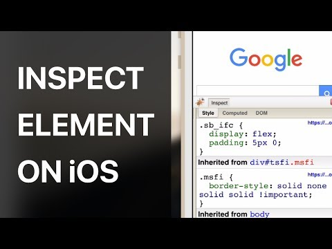 WEB INSPECTOR IN SAFARI ON iOS || MΛGNΞTΛR
