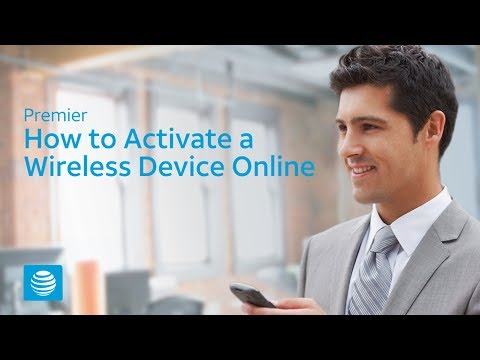 How to Activate a Wireless Device Online – AT&T Premier