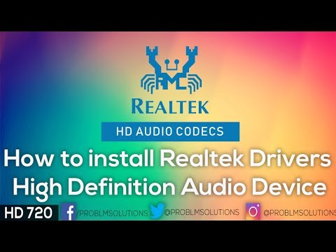 How to install Realtek Drivers High Definition Audio Device
