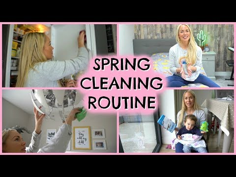 SPRING CLEANING ROUTINE 2018  |  HOW TO SPRING CLEAN  | DEEP CLEAN  |  EMILY NORRIS