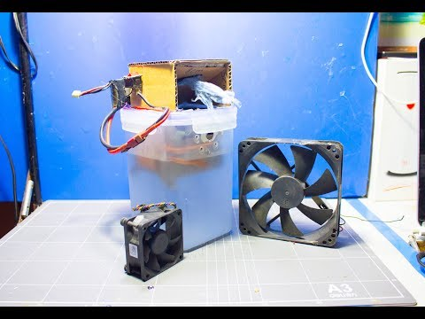How to Make Air Conditioner with CPU  Computer Fan at Home DIY [tutorial]