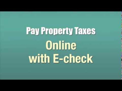 Pay Property Taxes Online with E check
