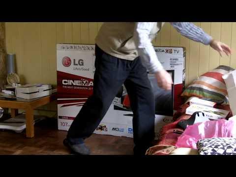 unboxing LG42lw450u 42