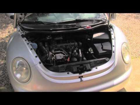 VW power steering fluid level check