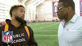 Odell Beckham Jr. Talks Training Camp Injury with Michael Irvin | NFL