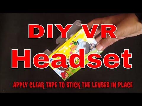 DIY How to Make VR Headset   How to Make Google Cardboard DIY