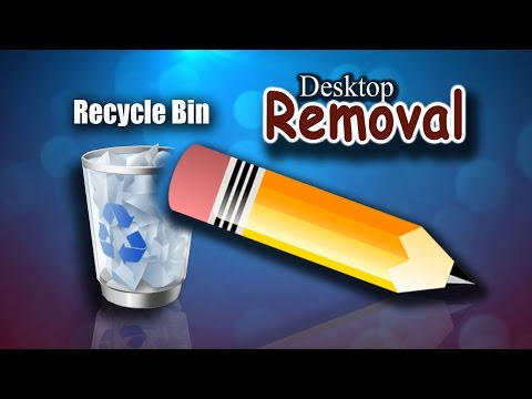 How to remove / hide Recycle Bin Icon from your Desktop