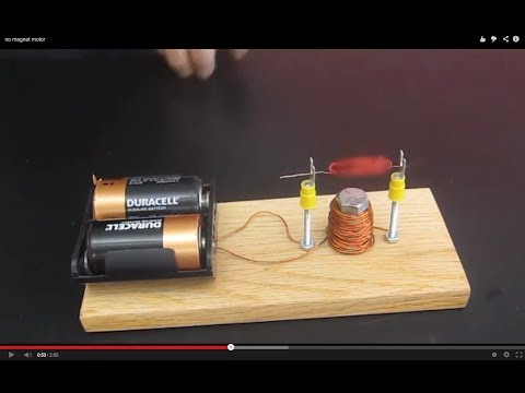 no magnet motor  ///  Homemade Science with Bruce Yeany